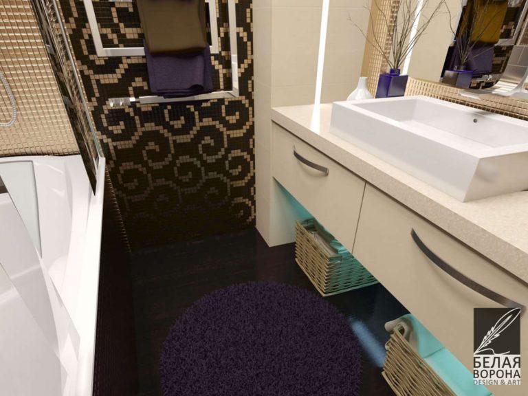 дизайн проект ванной в современном стиле