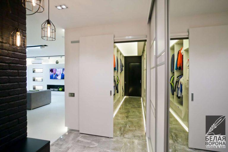 дизайн проект коридора в применением нейтральной гаммы