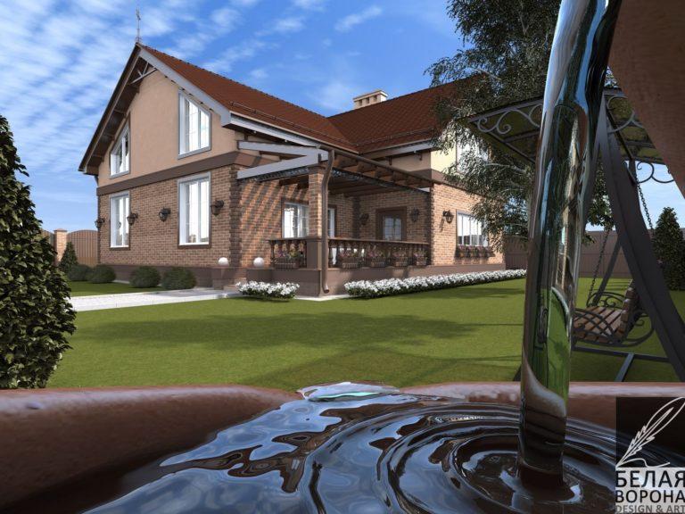дизайн проект загородного дома экстерьер в современном дизайне