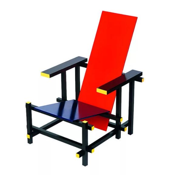 Мебель стиля баухаус, кресло Пита Мондриана