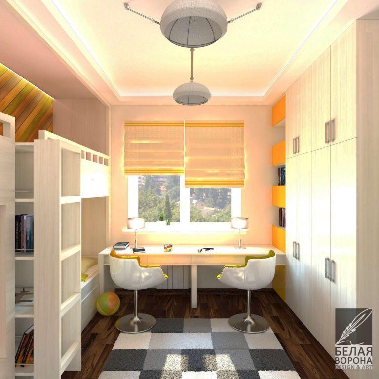 Интерьер рабочей зоны в спальнею дизайн-проект