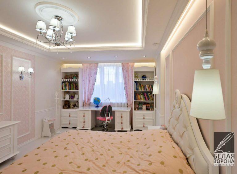 дизайн проект просторной спальни в стиле хай-тек в контраста тёплых и холодных тонов