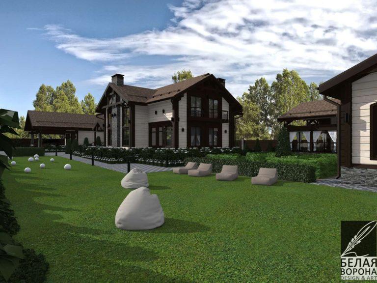 экстерьер загородного дома экстерьер прилегающей территории ландшафтный дизайн