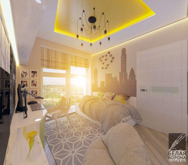 дизайн проект комнаты в современном интерьере стильная спальня дизайн 2020