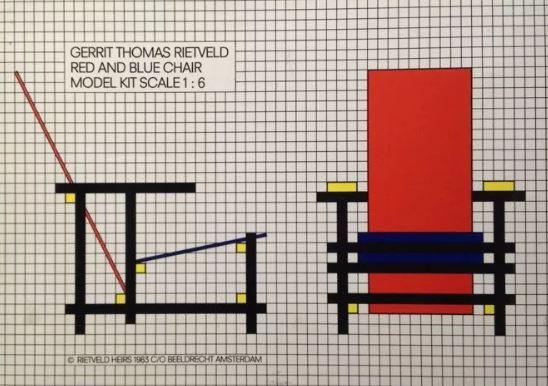 Кресло Пита Мондриана как объект искусства мебели в стиле баухаус