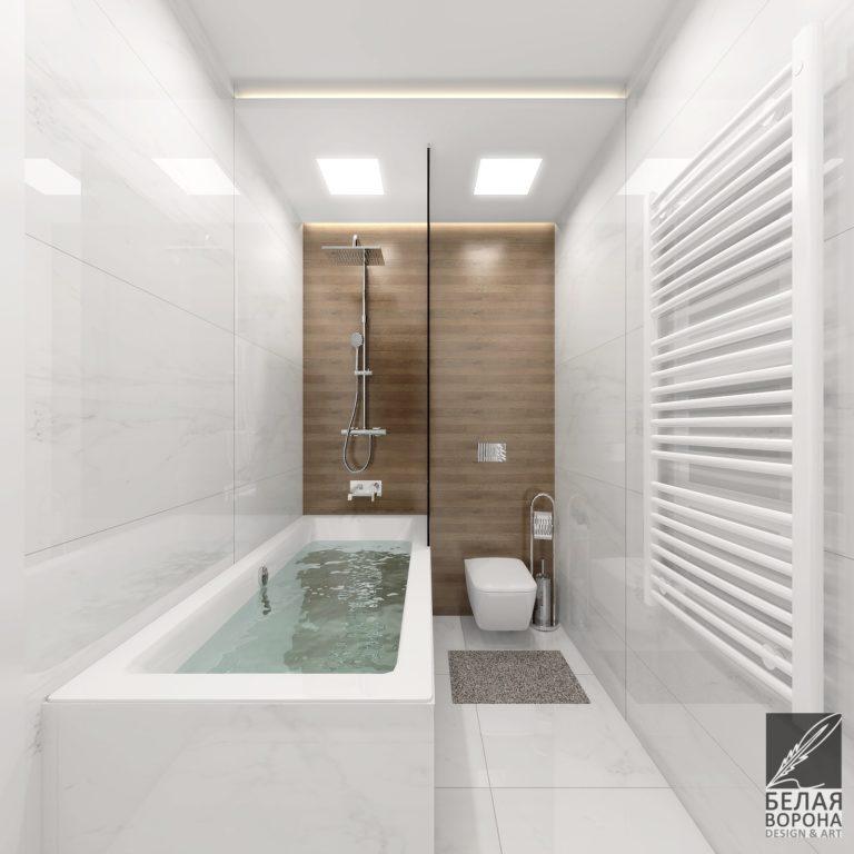 Дизайн ванной комнаты в нейтральной цветовой гамме