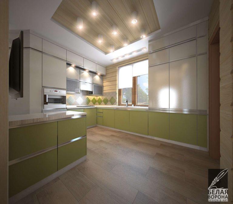 проект кухни в светлых тонах дизайн интерьера кухни в с применением цветовых акцентов