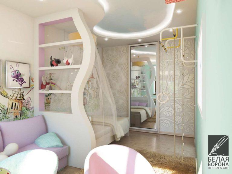 Дизайн интерьера детской комнаты с применением пастельных оттенков