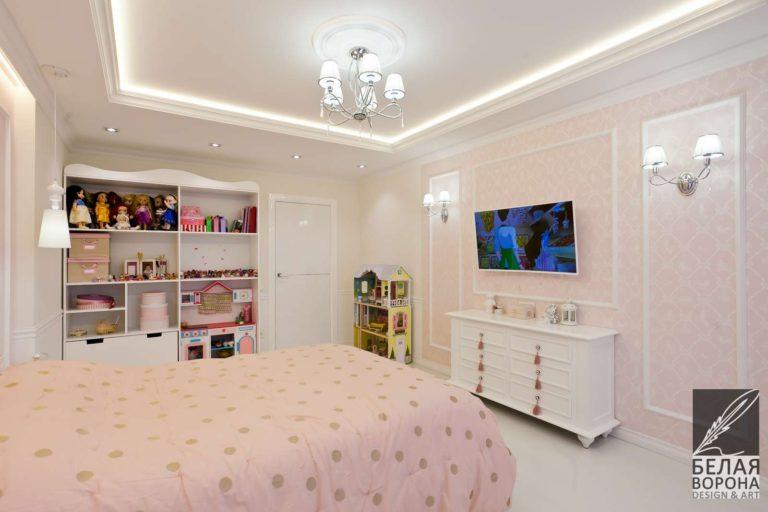 дизайн интерьер спальни в светлых тонах с применением пастельных оттенков