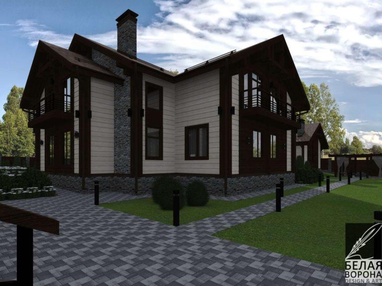 дизайн дизайн-проект фасада экстерьера дачного дома