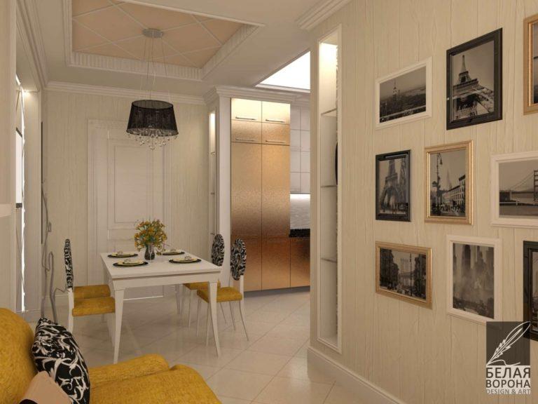 дизайн интерьера столовой в с применением цветовых акцентов современные дизайн-проекты