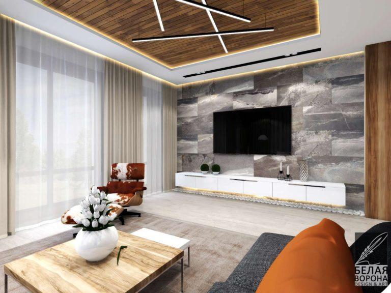 Гостинная в современном интерьере. Мебель для гостинной, декоративные элементы в отделке