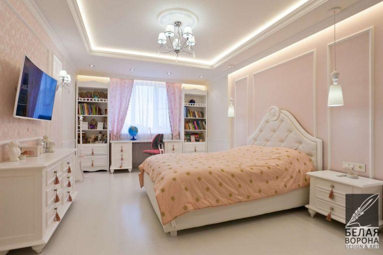 Пастельные оттенки в интерьере спальни в стиле Хай-тек