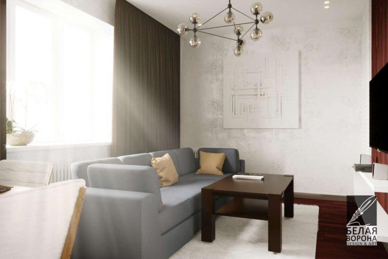 Обстановка гостинной в дизайнерском интерьере. Мебель для дизайнерской гостинной