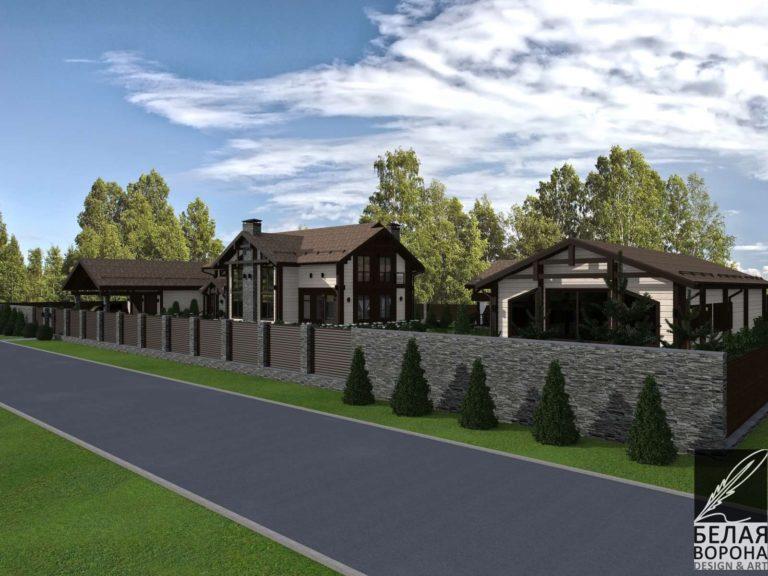 дизайн экстерьере фасада экстерьера дома Вид со стороны дороги