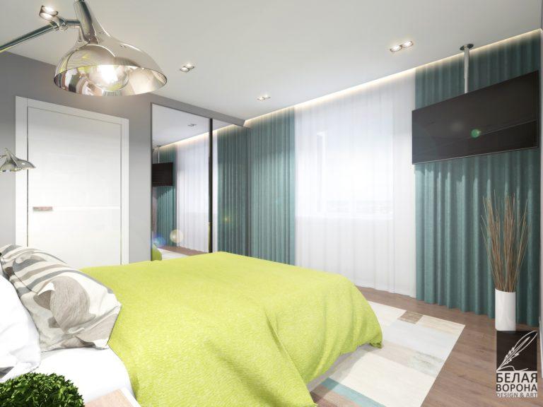 дизайн проект комнаты в современном стиле