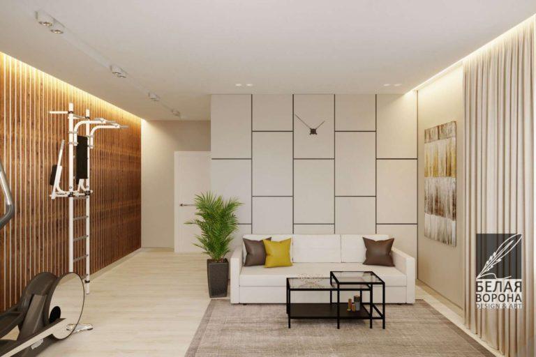 Стиль авангард в интерьере гостинной