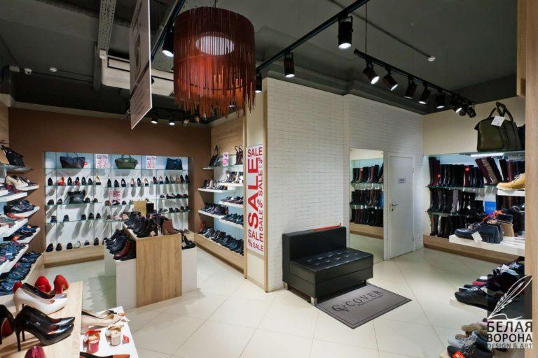 дизайн проект просторной зала коммерческого помещения в применением резкого контраста