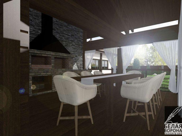 дизайн дизайн-проект фасада экстерьер загородного дома