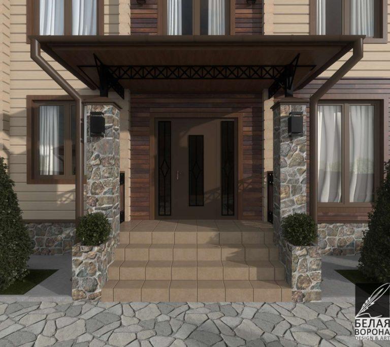 дизайн экстерьера загородного дома в современном стиле