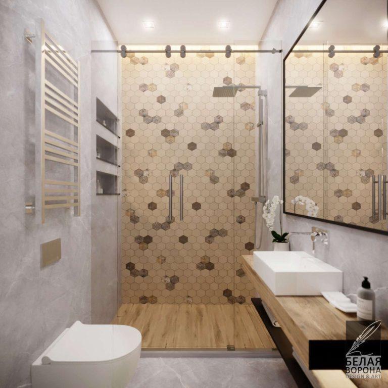Туалетная комната в современном дизайне интерьера