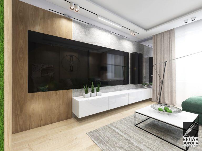 Дизайн интерьера гостиной с применением современных технологий