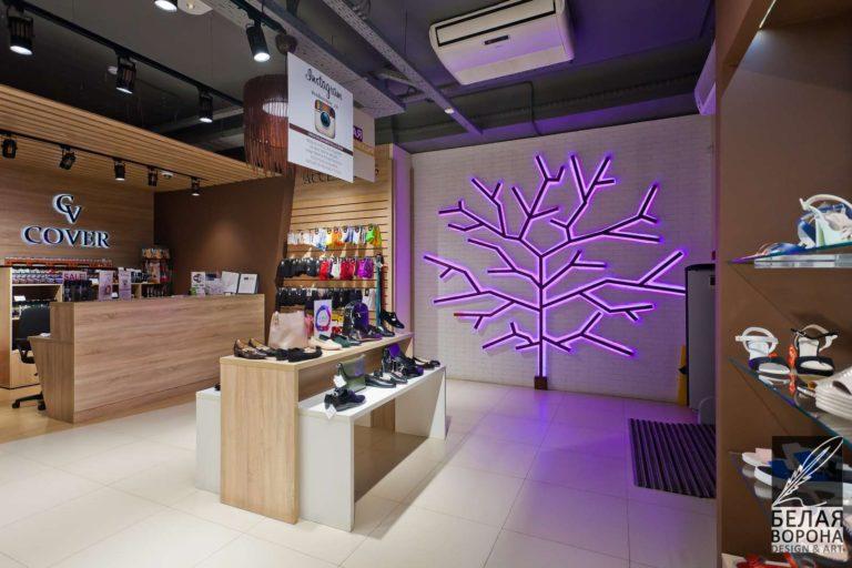 Художественные декоративные элементы в интерьере коммерческого помещения