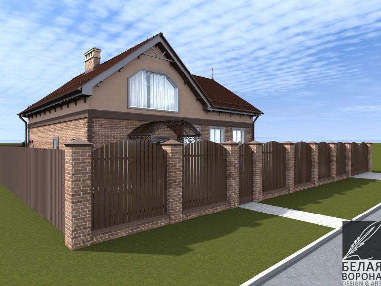 дизайн-проект загородного дома в светлых тонах