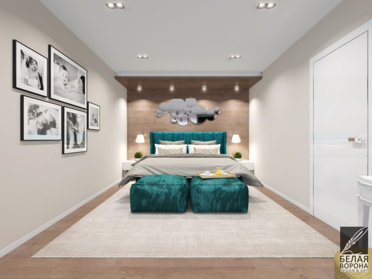 Дизайн-проект спальни. Мебель как яркий акцент в интерьере