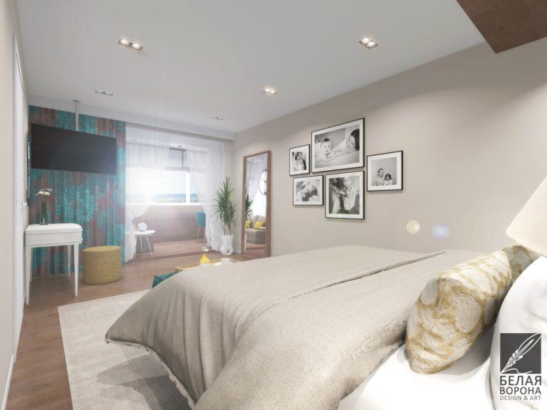 Дизайн интерьера спальни Картины как декоративны и ритмичный элемент в интерьере комнаты