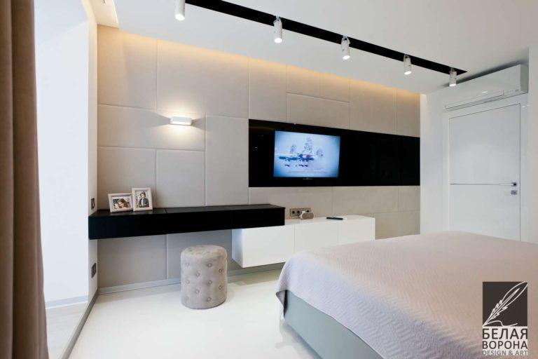 дизайн проект спальни в с применением лёгких цветовых акцентов