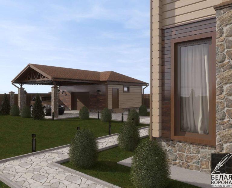 дизайн экстерьера дома в современном стиле