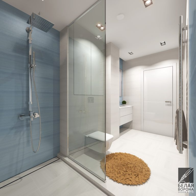 Мягкие тоновые отношения в дизайн-проекте ванной комнаты
