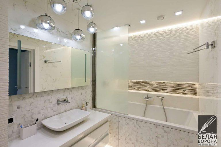 Стиль Хай-тек в дизайн-проекте ванной