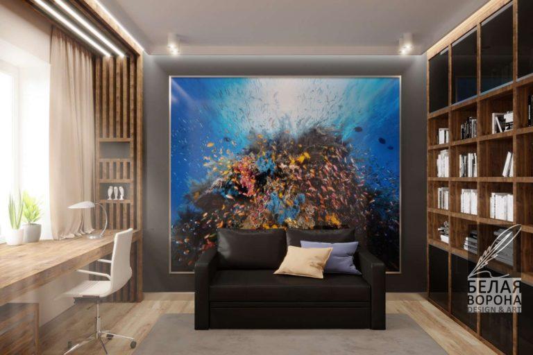 Стильная гостинная. Дизайн-проект авангард