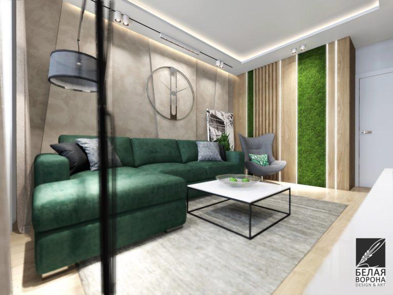 дизайн интерьера комнаты в с применением цветовых акцентов