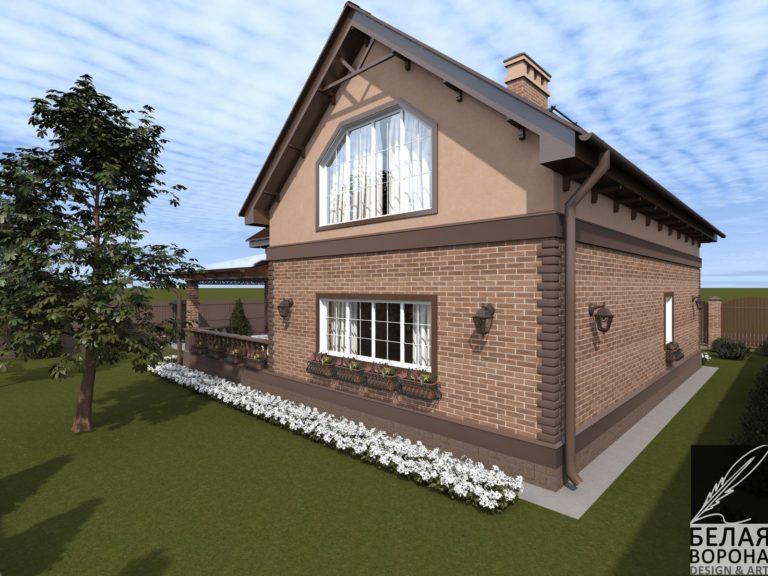 дизайн проект дома в современном экстерьере