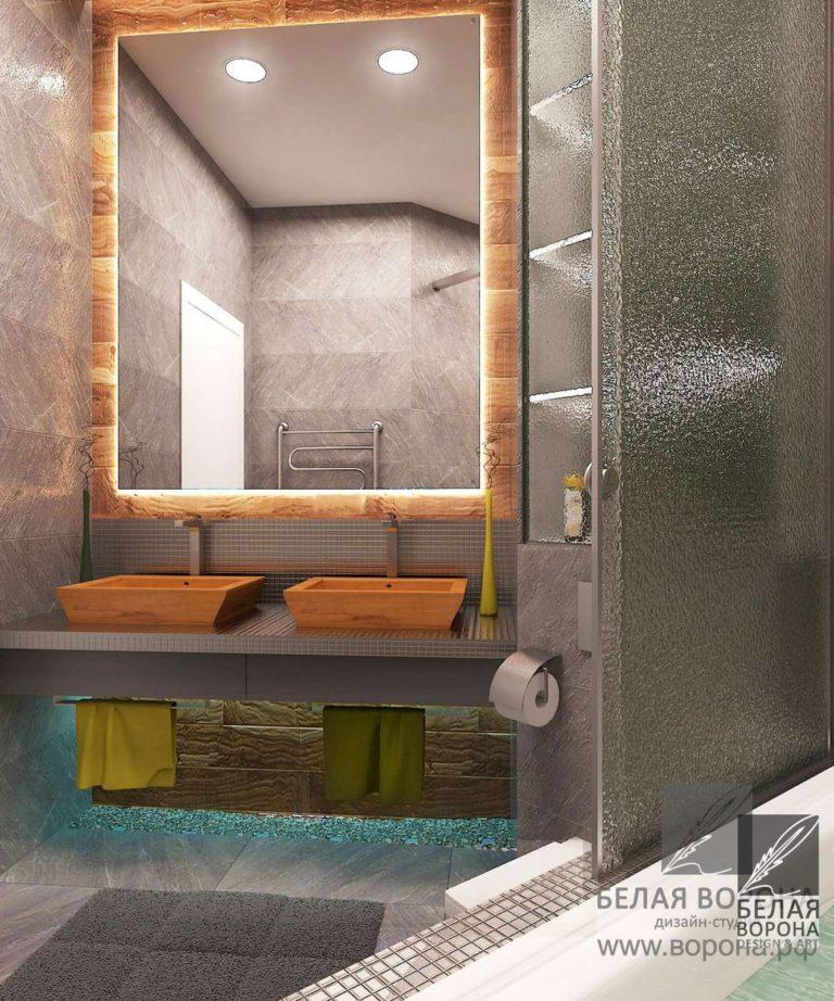 Дизайн ванной комнаты. Отделка ванной. Дизайн-проект ванной комнаты