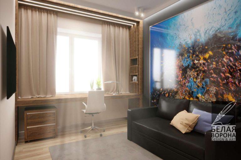 гостинная в стиле авангард дизайнерский проект. Владимир