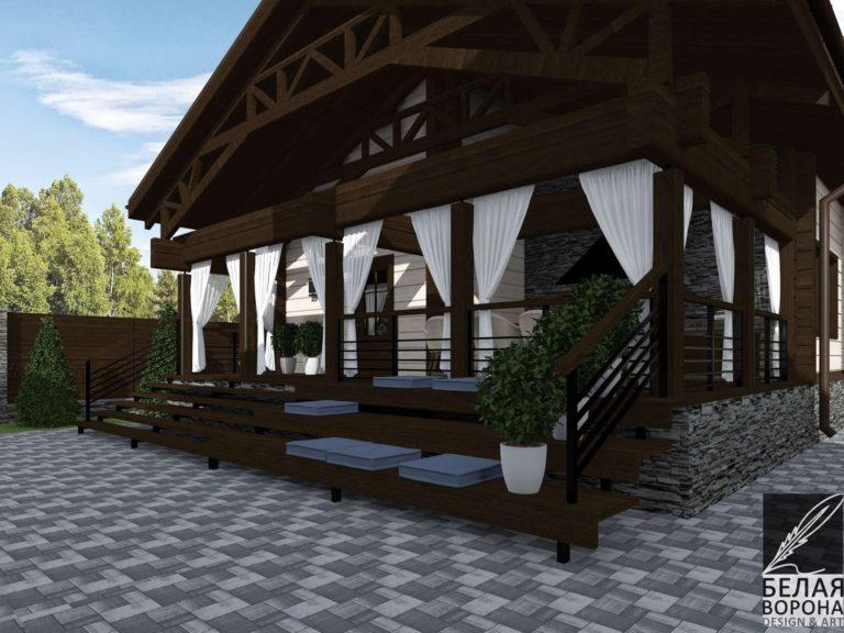 дизайн дизайн-проект фасада экстерьера шале