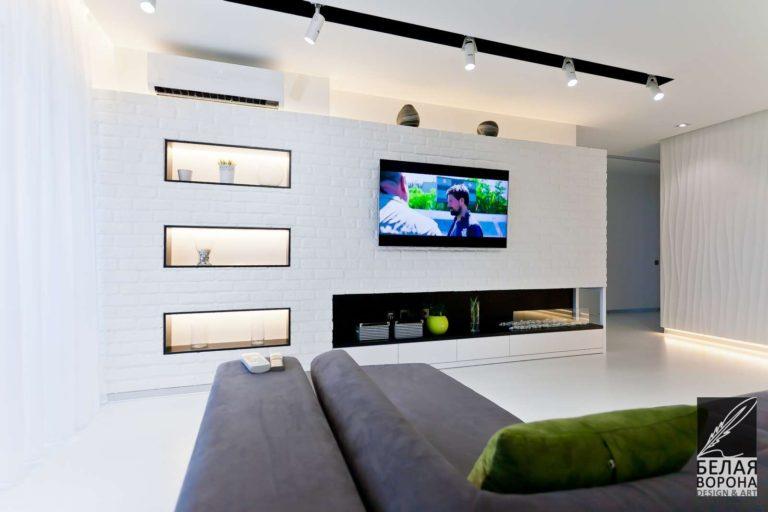 дизайн проект квартиры с применением лёгких цветовых акцентов