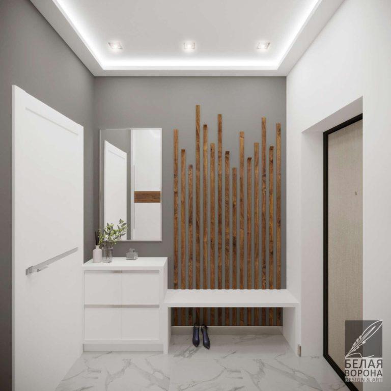 Прихожая в стиле авангард. спользование деревянных элементов при оформлении помещения