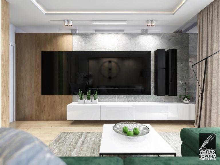 дизайн проект комнаты в с применением цветовых акцентов