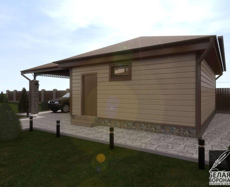 дизайн проект экстерьера дома из бруса