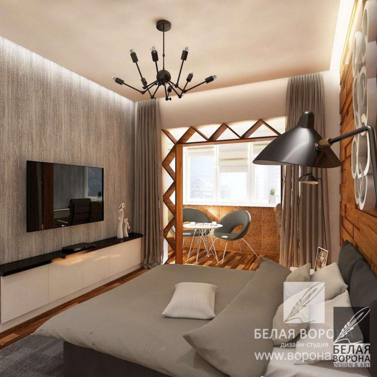Дизайн-проект спальни, с элементами экостиля