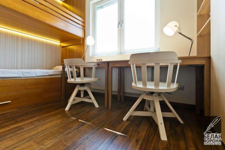 Мебель в спальне дизайн интерьер рабочего пространства в спальне в контраста тёплых и холодных тонов