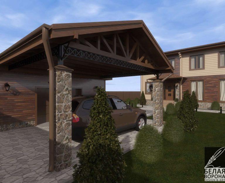 дизайн экстерьере экстерьера дома из клееного бруса