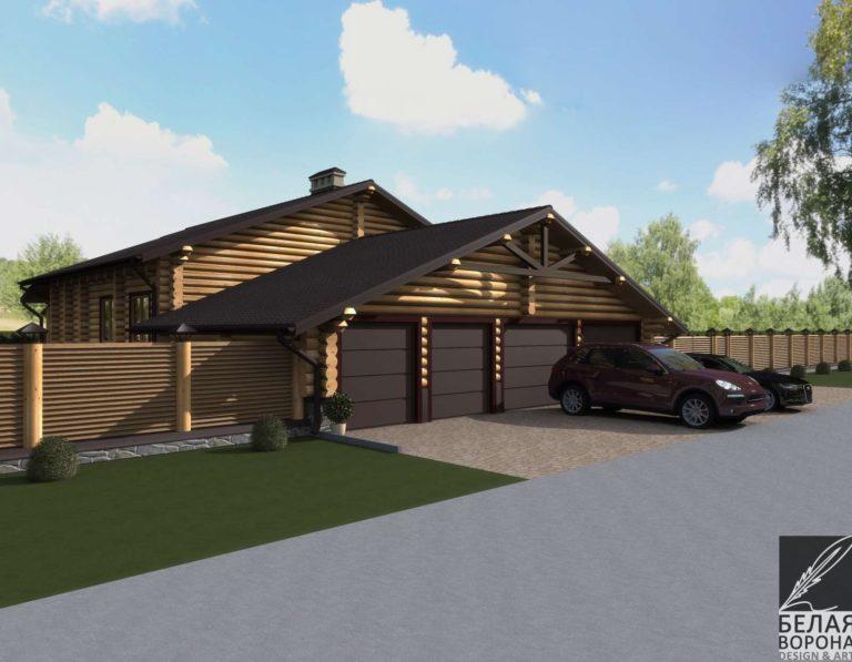 дизайн экстерьер фасада экстерьера дома со стороны дороги