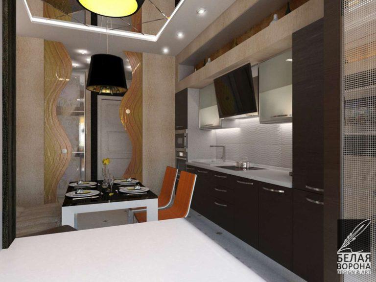 дизайн интерьера кухни в с применением цветовых акцентов дизайн проект холла в современном стиле