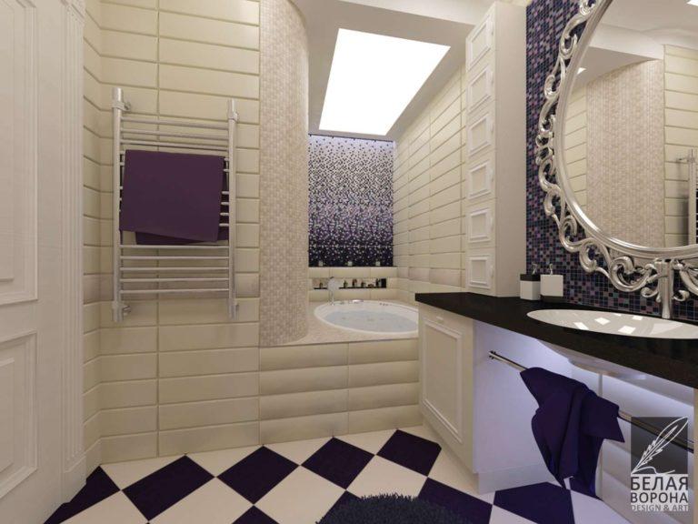 Ванная в классическом французском стиле. Дизайн-проект ванной
